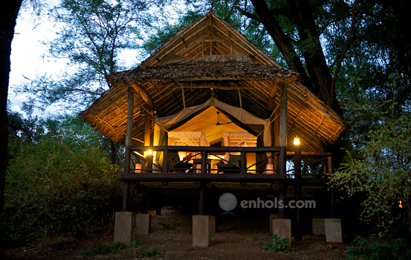 Samburu-intrepids-camp-nanyuki-cottage-night
